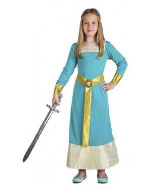 Fato Princesa Medieval 3-4 Anos para Carnaval