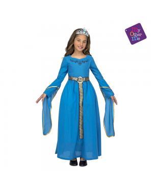 Fato Princesa Medieval Azul para Carnaval