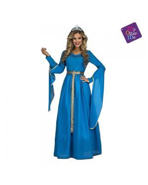 Fato Princesa Medieval Azul M/L para Carnaval
