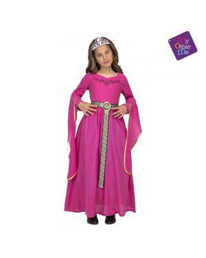 Fato Princesa Medieval Rosa para Carnaval