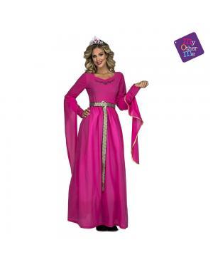 Fato Princesa Medieval Rosa M/L para Carnaval