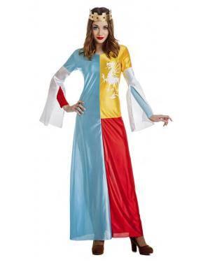 Fato Princesa Medieval Tamanho S para Carnaval