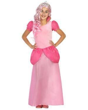 Fato Princesa Rosa de 10-12 anos Disfarces A Casa do Carnaval.pt