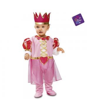 Fato Princesa Rosa Bebé para Carnaval