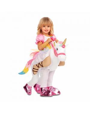 Fato Princesa Unicornio Ás Costas Menina para Carnaval