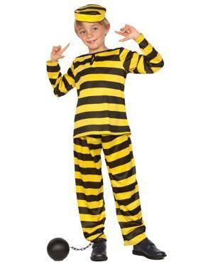 Fato Prisioneiro Amarelo Dalton Criança Disfarces A Casa do Carnaval.pt