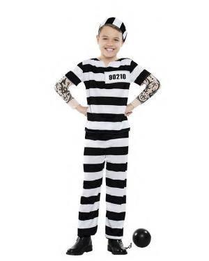Fato Prisioneiro Tattoo 3-4 Anos para Carnaval