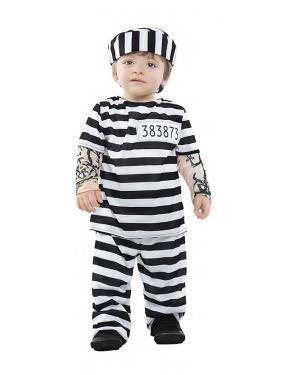 Fato Prisioneiro Tattoo Bébe 0-6 Meses para Carnaval
