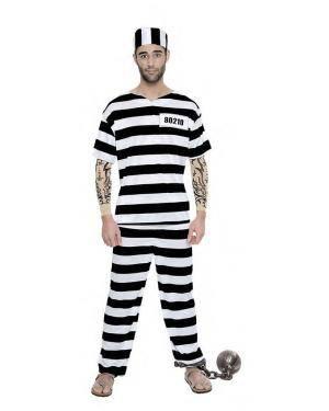 Fato Prisioneiro Tattoo Tamanho S para Carnaval