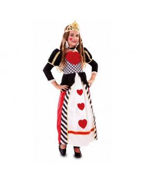 Fato Rainha de Corações Menina para Carnaval