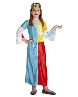 Fato Rainha Medieval 3-4 Anos para Carnaval