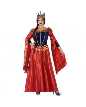 Fato Rainha Medieval Vermelho Adulta para Carnaval