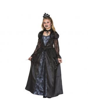 Fato Rainha Vampiresa Menina para Carnaval