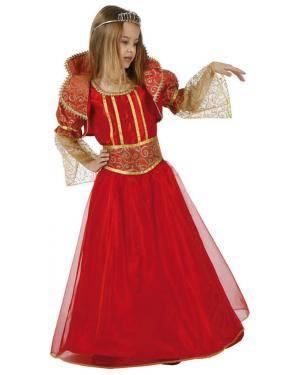 Fato Rainha Vermelho Menina Disfarces A Casa do Carnaval.pt
