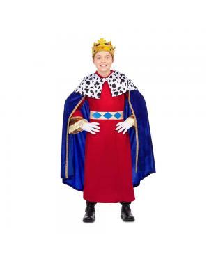 Fato Rei Mago Azul Criança para Carnaval