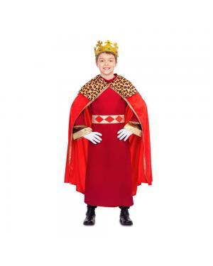 Fato Rei Mago Vermelho Criança para Carnaval