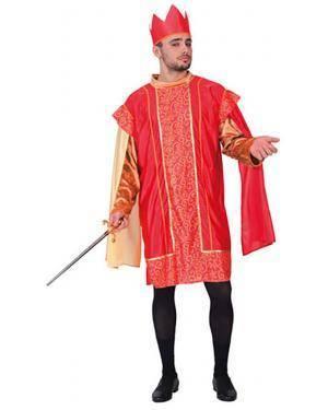 Fato Rei Medieval Adulto, Loja de Fatos Carnaval, Disfarces, Artigos para Festas, Acessórios de Carnaval, Mascaras, Perucas, Chapeus 203 acasadocarnaval.pt