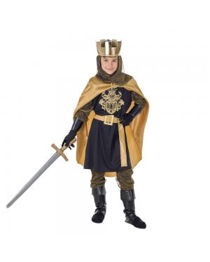Fato Rei Medieval Criança para Carnaval