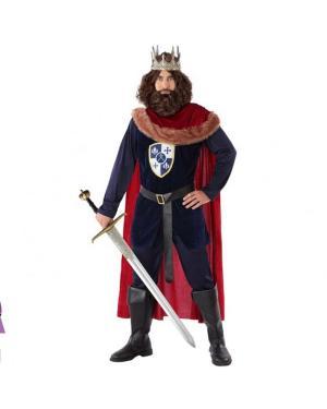 Fato Rei Medieval Vermelho Adulto para Carnaval