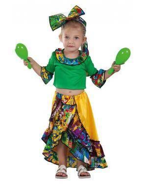 Fato de Rumbeira Brasileira Bebé 24 Meses para Carnaval   A Casa do Carnaval.pt