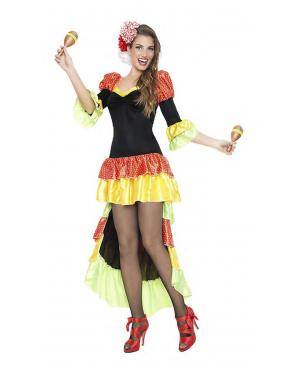 Fato Rumbeira Sexy Tamanho S para Carnaval