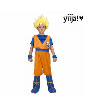 Fato Saiyan Goku Criança para Carnaval