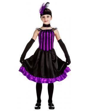 Fato Saloon Púrpura para Carnaval ou Halloween 6129 - A Casa do Carnaval.pt