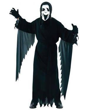 Fato Scream Halloween Adulto , Loja de Fatos Carnaval, Disfarces, Artigos para Festas, Acessórios de Carnaval, Mascaras, Perucas 357 acasadocarnaval.pt