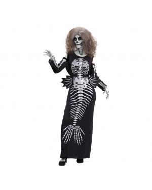 Fato Sereia Esqueleto Tamanho M/L para Carnaval