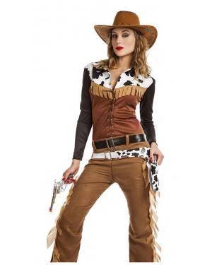 Fato Sherif Cowgirl Tamanho M/L para Carnaval