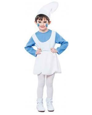 Fato Smurf Gnomo Menina Disfarces A Casa do Carnaval.pt