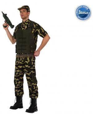 Fato Soldado Camuflagem Adulto Disfarces A Casa do Carnaval.pt