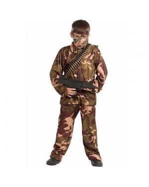 Fato Soldado Camuflagem Criança  para Carnaval
