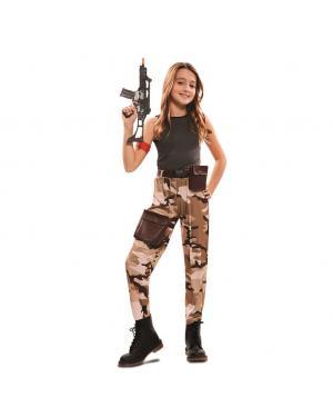 Fato Soldado de Combate Menina para Carnaval