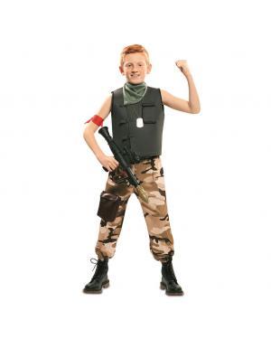 Fato Soldado de Combate Menino para Carnaval