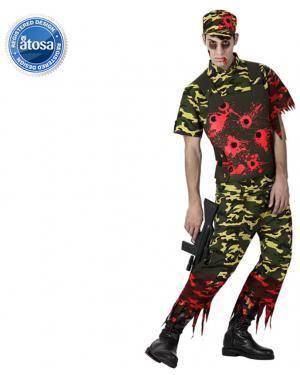 Fato Soldado Zombie Adulto Disfarces A Casa do Carnaval.pt
