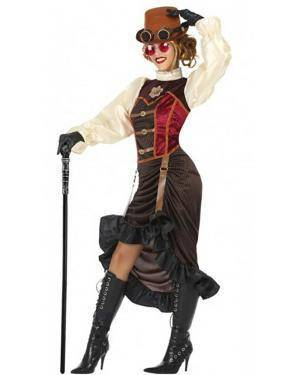 Fato Steampunk Mulher Adulto para Carnaval