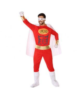 Fato Super Herói Vermelho Adulto para Carnaval