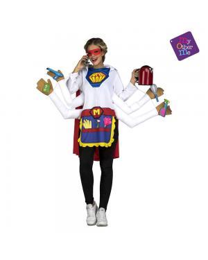 Fato Super Mãe M/L para Carnaval