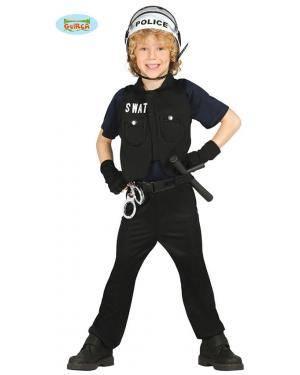 Fato Policia S.W.A.T. Infantil, Loja de Fatos Carnaval, Disfarces, Artigos para Festas, Acessórios de Carnaval, Mascaras, Perucas 370 acasadocarnaval.pt