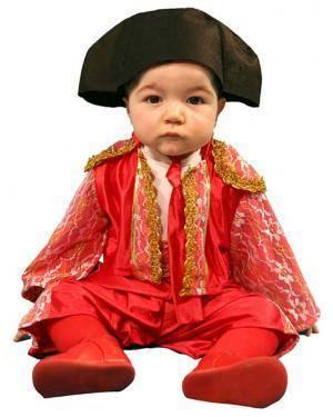 Fato Toureiro Vermelho Bebé Disfarces A Casa do Carnaval.pt