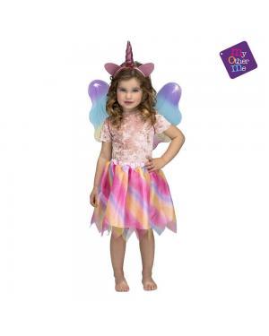Fato Unicornio com Asas Menina 3 a 6 Anos para Carnaval