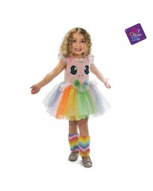 Fato Unicornio Rosa Olhinhos Menina 3-4 Anos para Carnaval