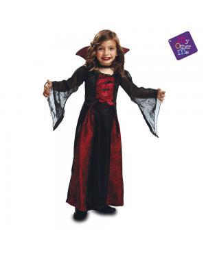 Fato Vampira Rainha Menina para Carnaval