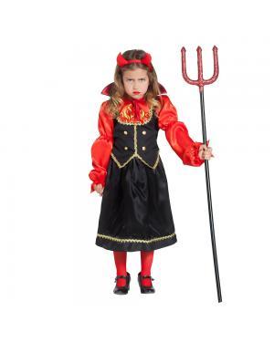 Fato Vampiresa Chamas Menina para Carnaval