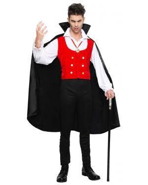 Fato Vampiro Dracula para Carnaval ou Halloween 2863 - A Casa do Carnaval.pt