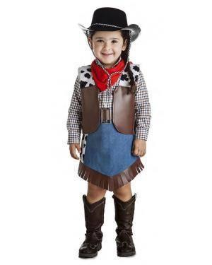 Fato Vaqueira Cowgirl 5-6 Anos Disfarces A Casa do Carnaval.pt