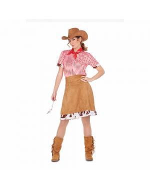 Fato Vaqueira Cowgirl M/L para Carnaval