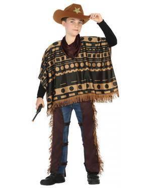 Fato Vaqueiro Mexicano Menino de 5-6 anos Disfarces A Casa do Carnaval.pt