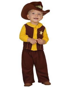 Fato Vaqueiro Xerife Bebé Disfarces A Casa do Carnaval.pt